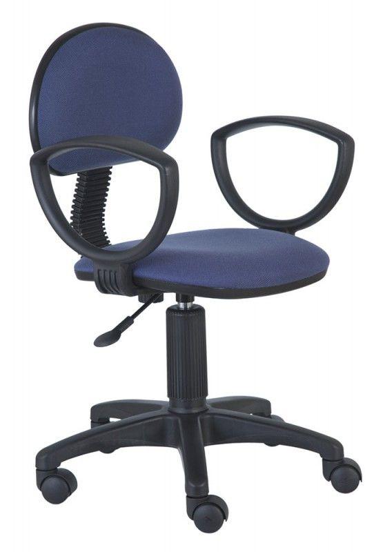 Кресло БЮРОКРАТ Ch-213AXN, на колесиках, ткань, синий [ch-213axn/purple]
