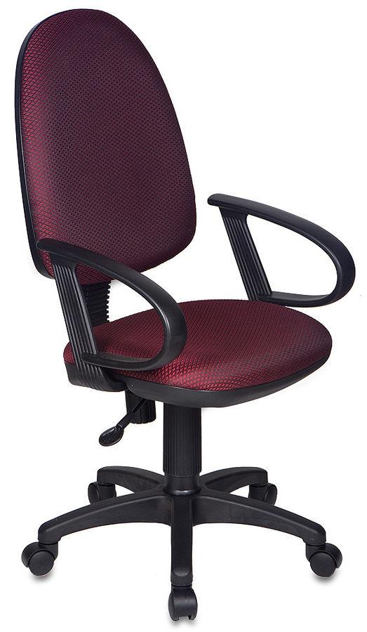 Кресло БЮРОКРАТ Ch-300AXSN, на колесиках, ткань, темно-бордовый/черный [ch-300axsn/#ch]