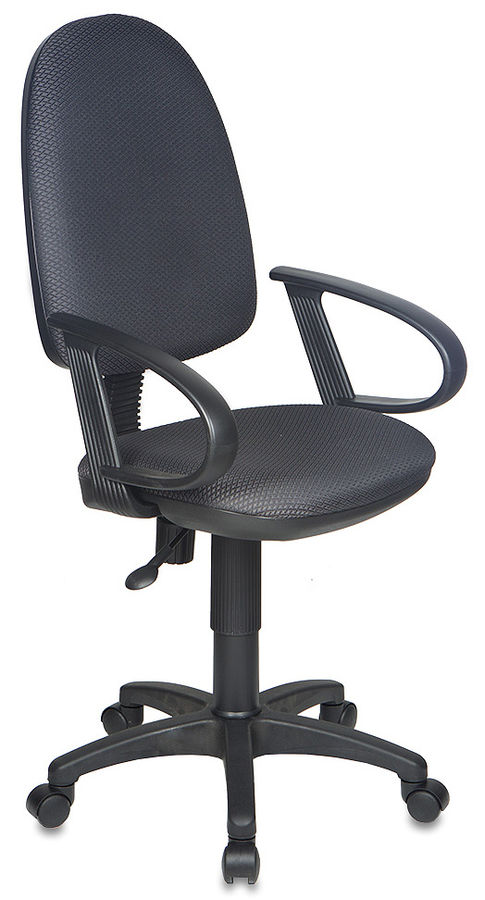 Кресло БЮРОКРАТ Ch-300AXSN, на колесиках, ткань, темно-серый/черный [ch-300axsn/#grey]
