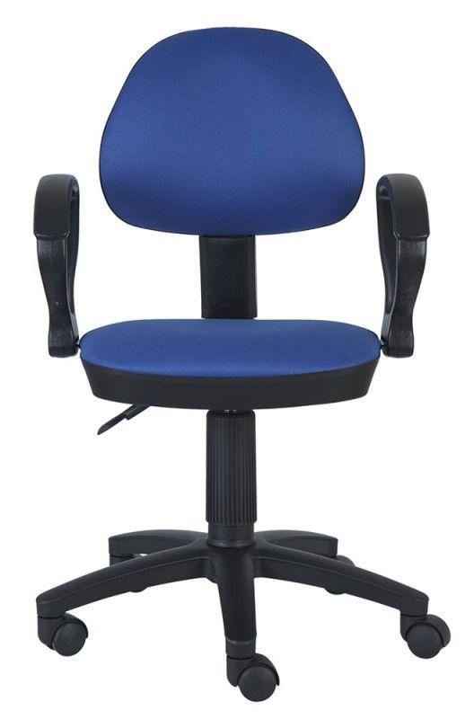 Кресло БЮРОКРАТ Ch-318AXN, на колесиках, ткань, синий [ch-318axn/15-10]