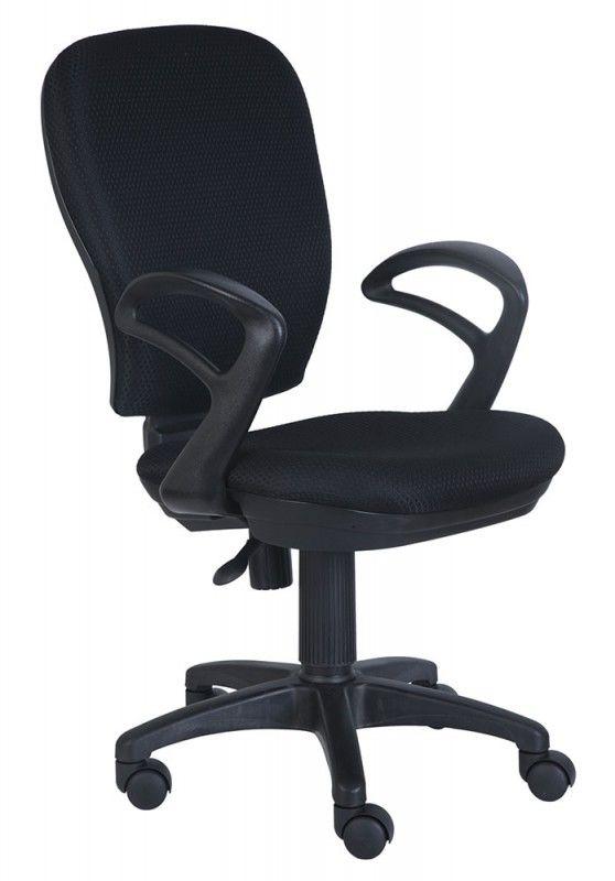 Кресло БЮРОКРАТ Ch-513AXN, на колесиках, ткань, черный/черный [ch-513axn/#b]