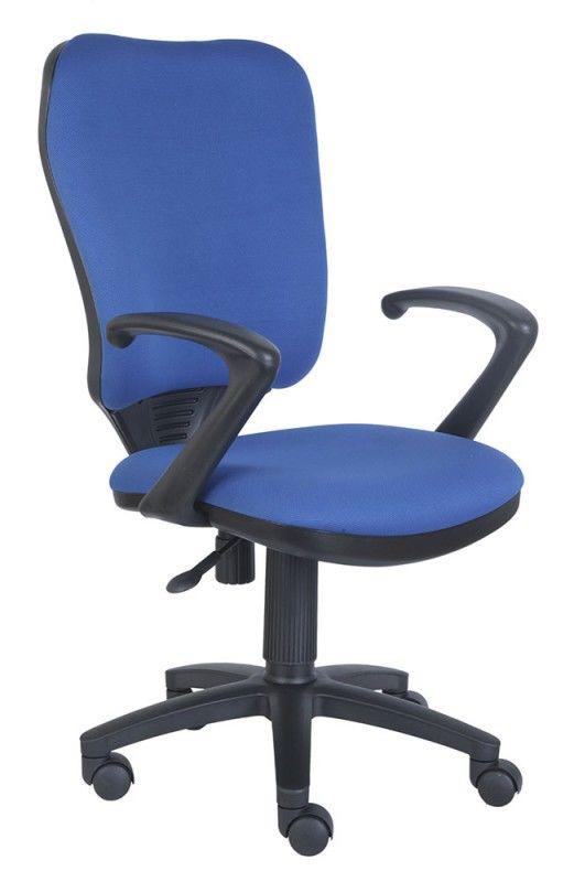 Кресло БЮРОКРАТ Ch-540AXSN, на колесиках, ткань, синий [ch-540axsn/26-21]