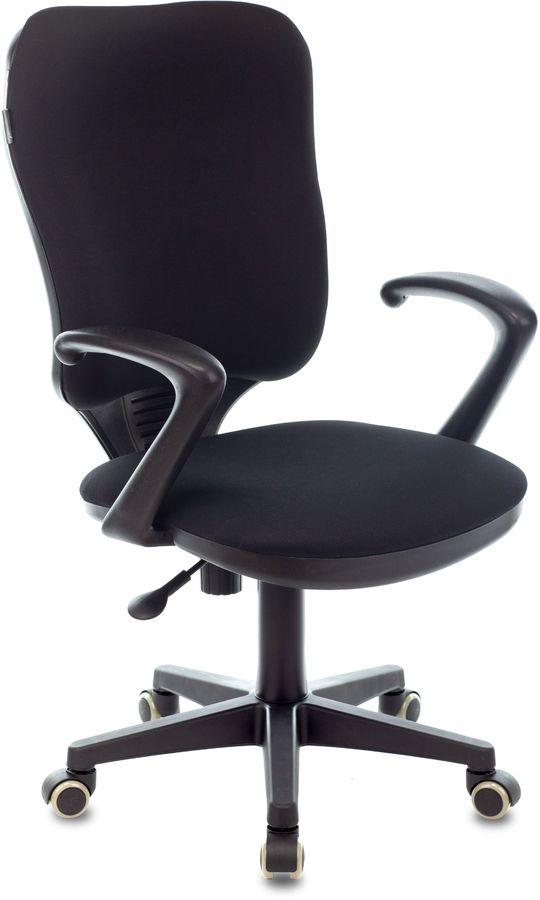 Кресло БЮРОКРАТ Ch-540AXSN, на колесиках, ткань, черный [ch-540axsn/26-28]