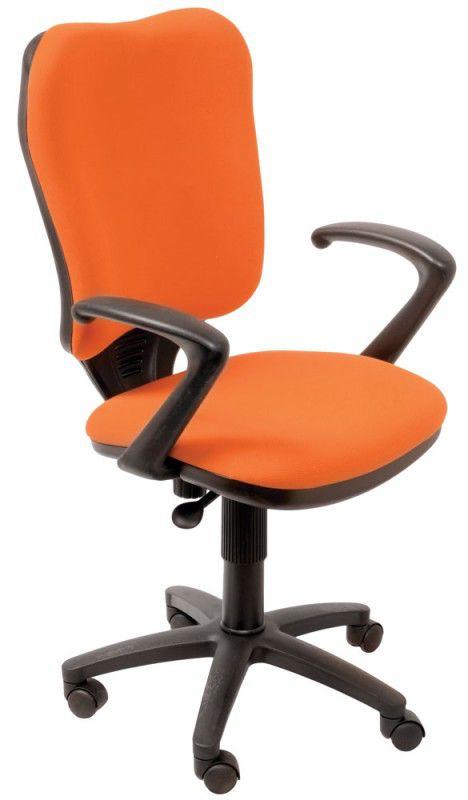 Кресло БЮРОКРАТ Ch-540AXSN, на колесиках, ткань, оранжевый [ch-540axsn/26291]