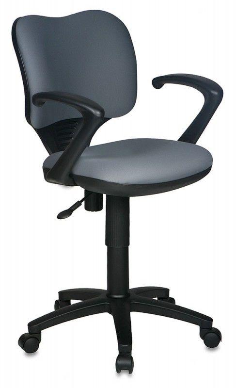 Кресло БЮРОКРАТ Ch-540AXSN-Low, на колесиках, ткань, серый [ch-540axsn-low/26-25]