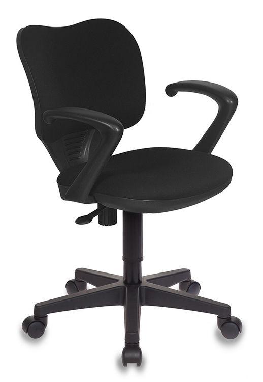 Кресло БЮРОКРАТ Ch-540AXSN-Low, на колесиках, ткань, черный [ch-540axsn-low/26-28]