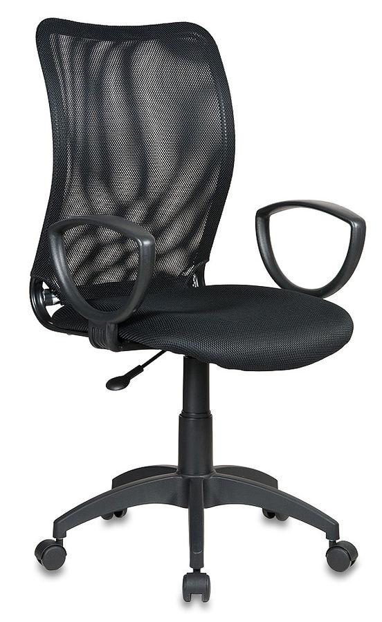 Кресло БЮРОКРАТ Ch-599AXSN, на колесиках, ткань, черный [ch-599axsn/tw-11]