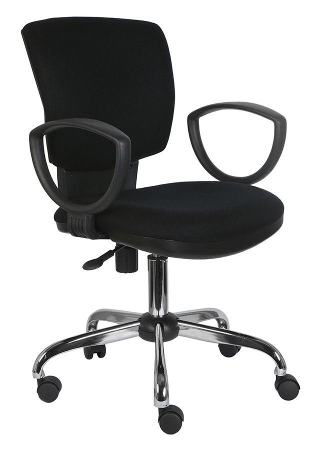 Кресло БЮРОКРАТ Ch-626AXSL, на колесиках, ткань, черный [ch-626axsl/10-11]