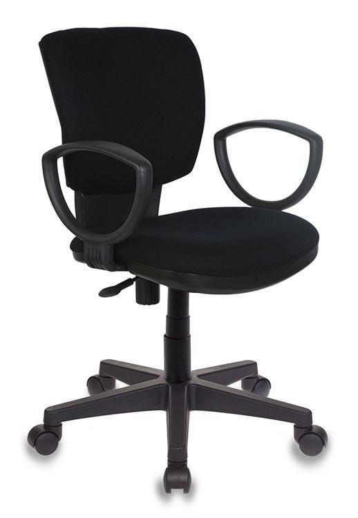 Кресло БЮРОКРАТ Ch-626AXSN, на колесиках, ткань, черный [ch-626axsn/10-11]