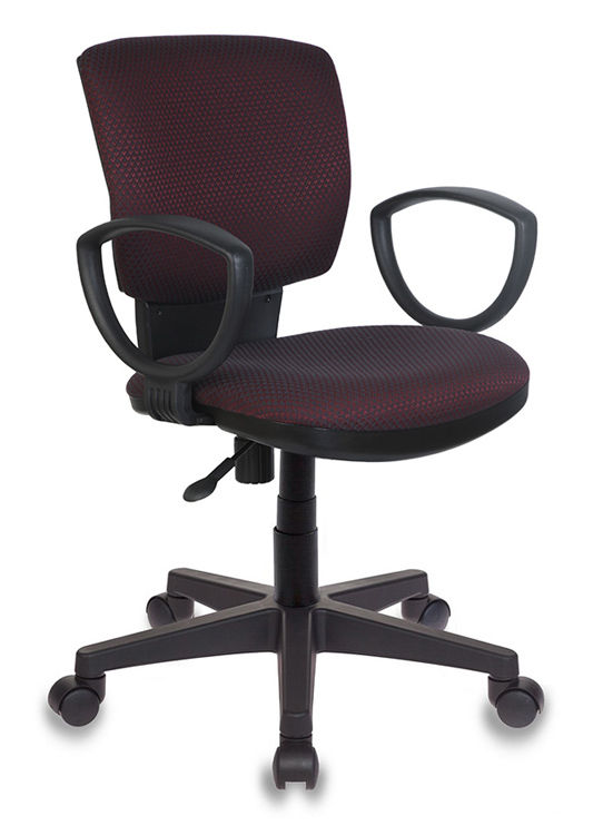 Кресло БЮРОКРАТ Ch-626AXSN, на колесиках, ткань, темно-бордовый/темно-серый [ch-626axsn/v-02]