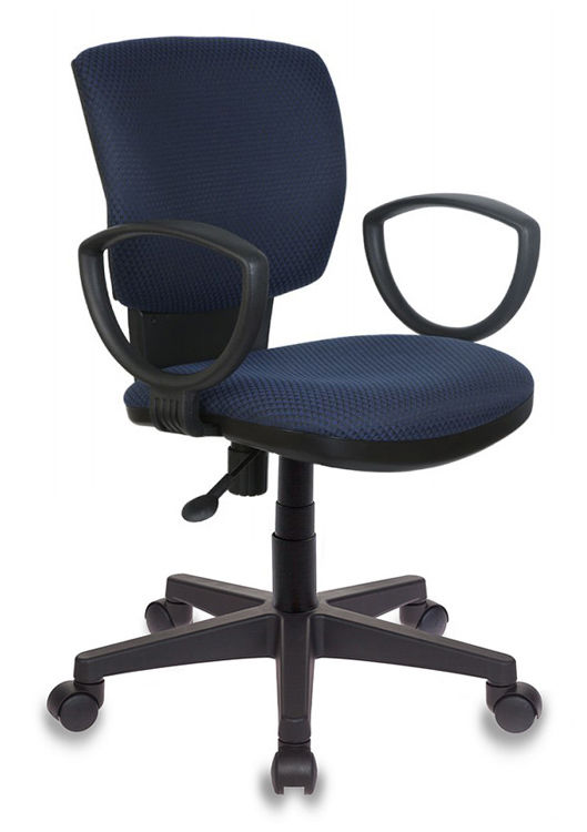 Кресло БЮРОКРАТ Ch-626AXSN, на колесиках, ткань, темно-синий/черный [ch-626axsn/v-03-1]
