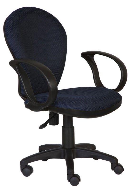 Кресло БЮРОКРАТ Ch-687AXSN, на колесиках, ткань, темно-синий/черный [ch-687axsn/#blue]