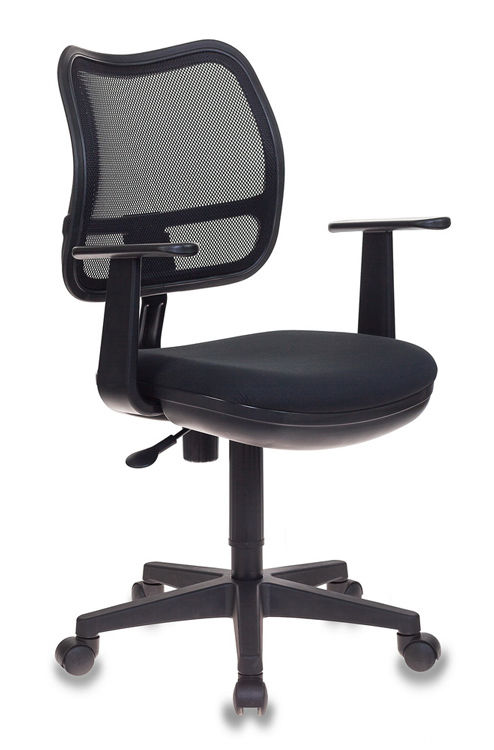 Кресло БЮРОКРАТ Ch-797AXSN, на колесиках, ткань, черный [ch-797axsn/26-28]