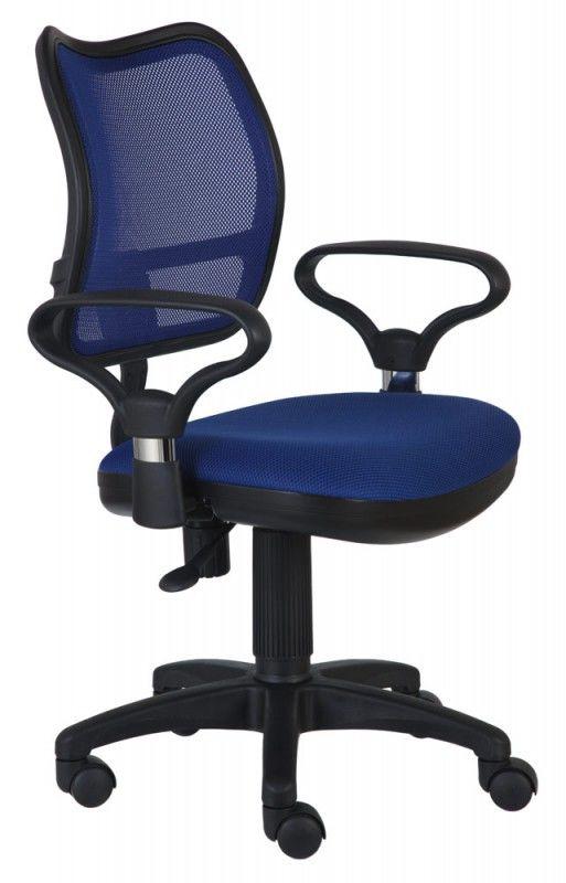 Кресло БЮРОКРАТ CH-799AXSN, на колесиках, ткань, синий [ch-799/bl/tw-10]