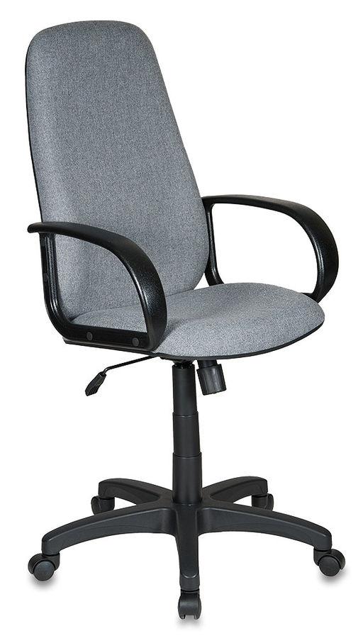 Кресло руководителя БЮРОКРАТ Ch-808AXSN, на колесиках, ткань, серый [ch-808axsn/grey]