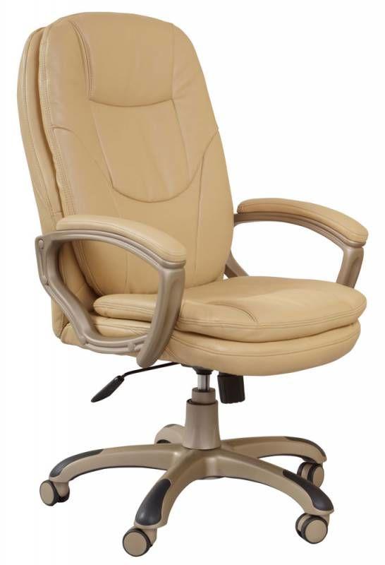 Кресло руководителя БЮРОКРАТ Ch-868AXSN, на колесиках, искусственная кожа, бежевый [ch-868yaxsn/beige]