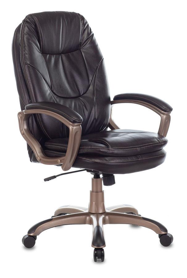 Кресло руководителя БЮРОКРАТ Ch-868AXSN, на колесиках, искусственная кожа, темно-коричневый [ch-868yaxsn/coffee]