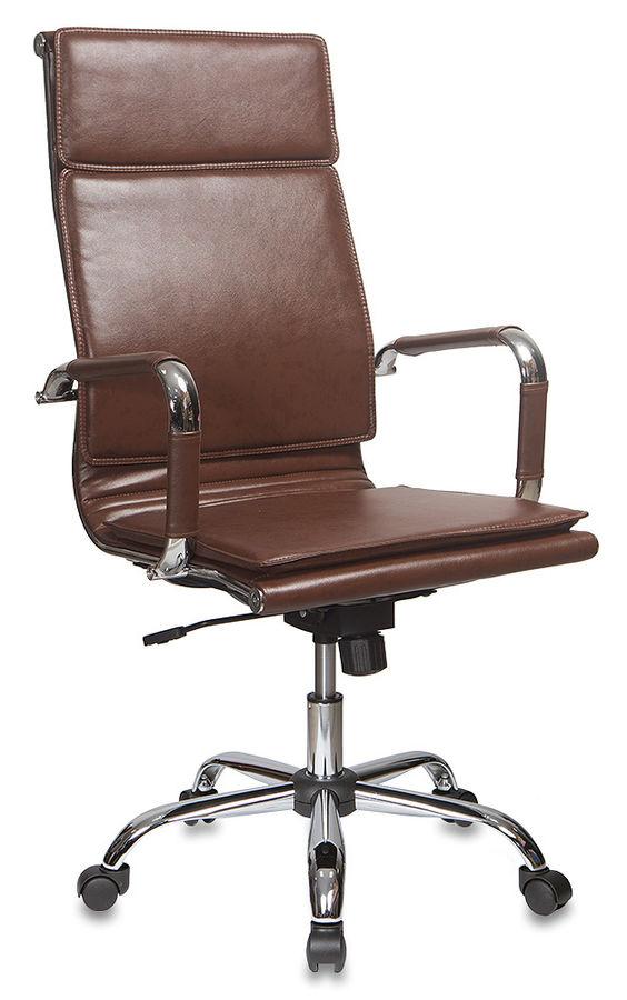 Кресло руководителя БЮРОКРАТ Ch-993, на колесиках, искусственная кожа, коричневый [ch-993/brown]