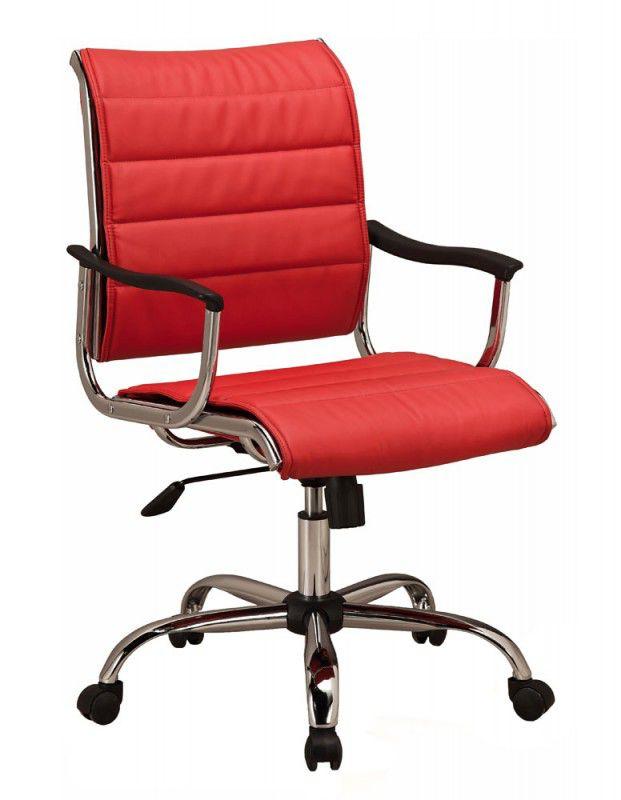 Кресло руководителя БЮРОКРАТ Ch-994AXSN, на колесиках, искусственная кожа, красный [ch-994axsn/red]