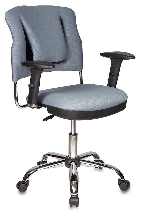 Кресло БЮРОКРАТ Ch-H323AXSN, на колесиках, ткань, серый [ch-h323axsn/g]
