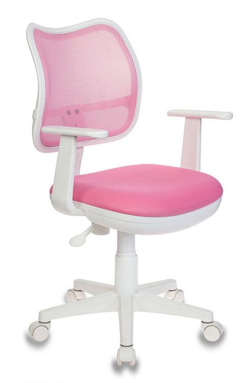 Кресло детское БЮРОКРАТ Ch-W797, на колесиках, ткань, розовый [ch-w797/pk/tw-13a]