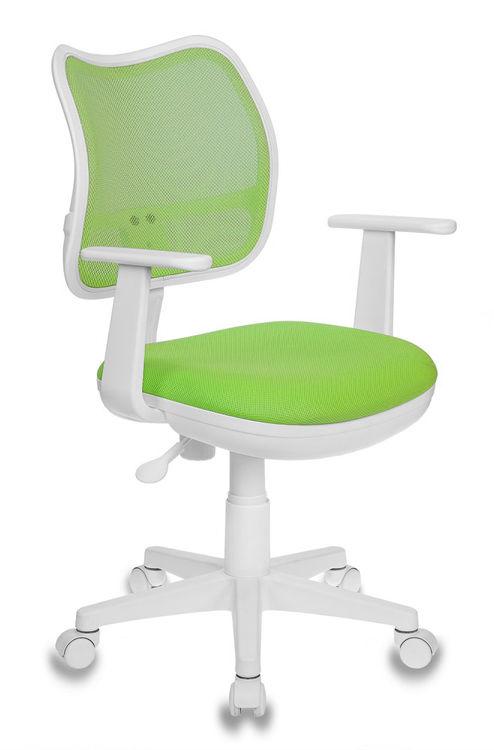 Кресло детское БЮРОКРАТ Ch-W797, на колесиках, ткань, салатовый [ch-w797/sd/tw-18]
