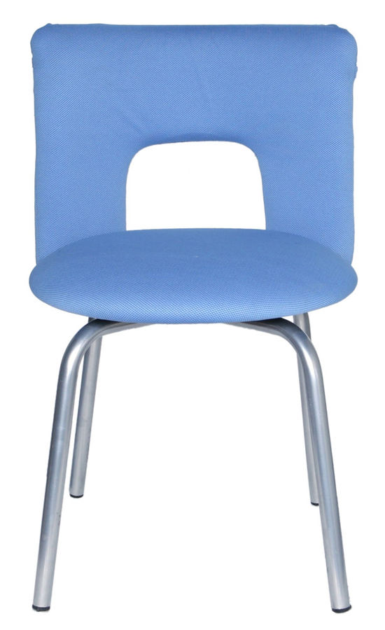 Стул БЮРОКРАТ KF-1, на ножках, ткань, синий [kf-1/indigo26-21]