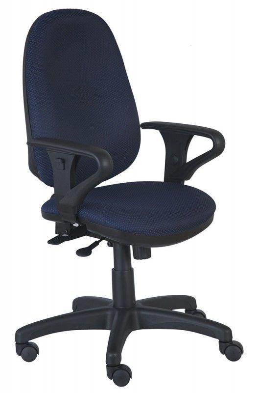 Кресло БЮРОКРАТ T-612AXSN, на колесиках, ткань, темно-синий/черный [t-612axsn/blue]