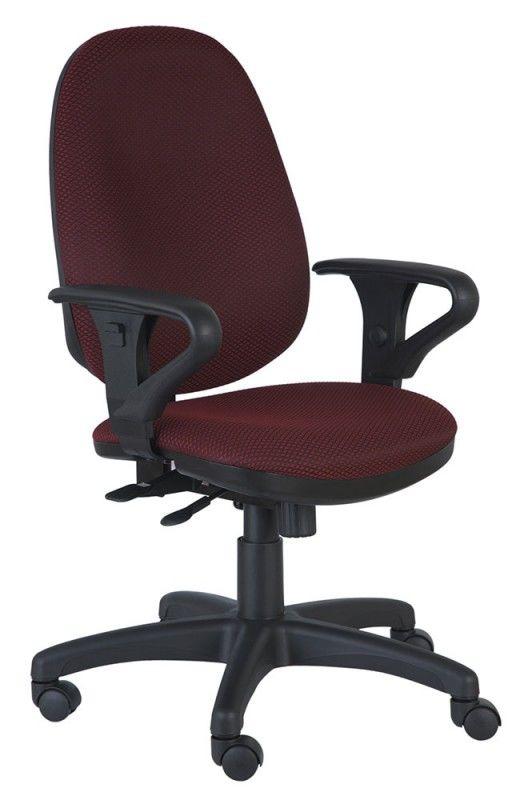 Кресло БЮРОКРАТ T-612AXSN, на колесиках, ткань, темно-бордовый/черный [t-612axsn/ch]