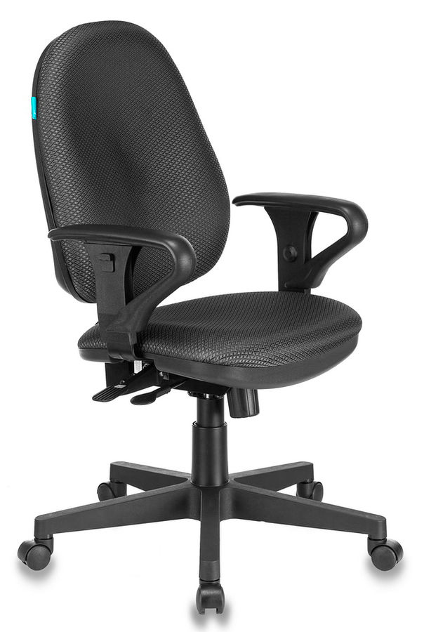 Кресло БЮРОКРАТ T-612AXSN, на колесиках, ткань, темно-серый/черный [t-612axsn/grey]