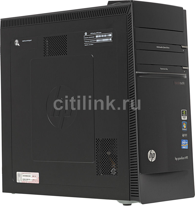 Компьютер  HP Pavilion HPE h8-1201er,  Intel  Core i7  2600,  DDR3 6Гб, 500Гб +  500Гб,  nVIDIA GeForce GTX 550 - 1024 Мб,  Blu-Ray,  CR,  Windows 7 Home Premium,  черный [h2q87ea]