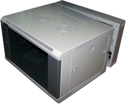 Шкаф настенный Lanmaster Pro (TWT-CBW3-12U-6X6 ) 12U 600x600мм пер.дв.стекл съемные бок.пан. 60кг се