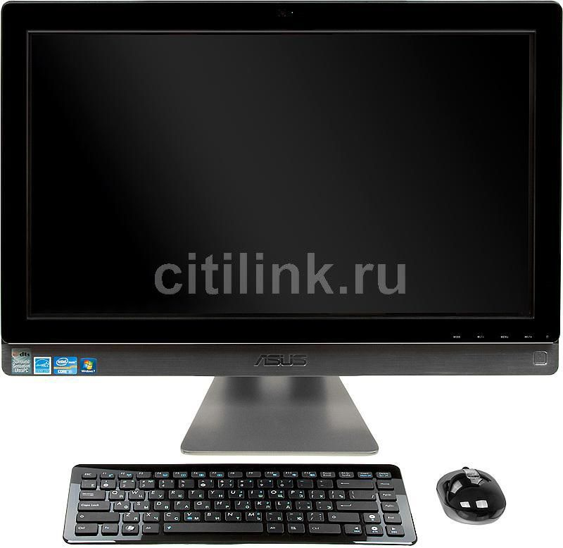 Моноблок ASUS ET2410IUKS, Intel Core i3 2120, 4Гб, 1000Гб, Intel HD Graphics 2000, DVD-RW, Windows 7 Home Premium, черный и серебристый [90pt0041002890c]
