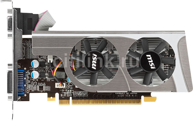 Видеокарта MSI N440GT-MD1GD3/LP,  1Гб, DDR3, Low Profile,  oem