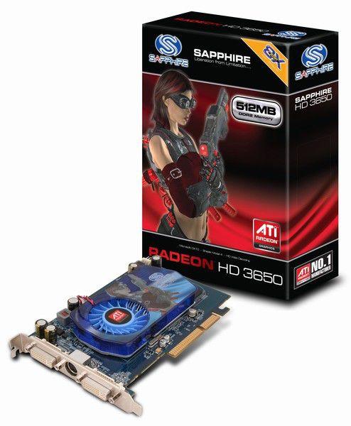 Видеокарта SAPPHIRE Radeon HD 3650,  512Мб, DDR2, oem [11129-xx-10g]