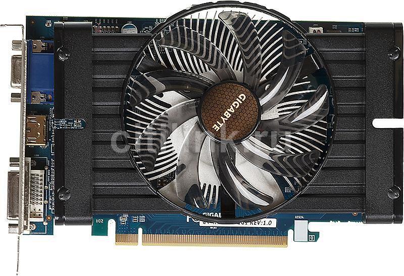 Видеокарта GIGABYTE Radeon HD 7750,  1Гб, GDDR5, Ret [gv-r775oc-1gi]