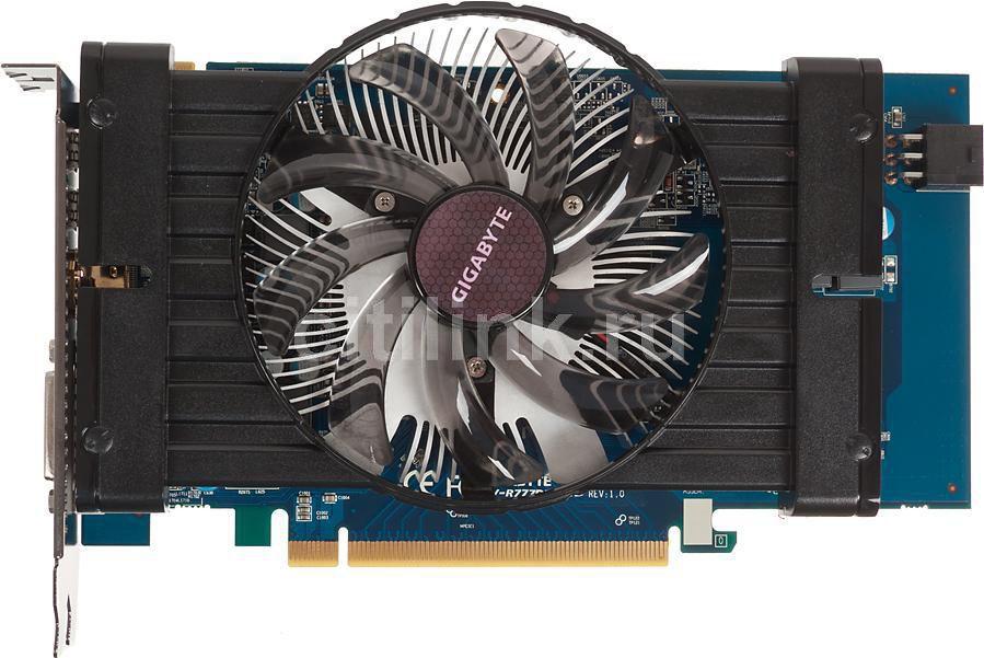 Видеокарта GIGABYTE Radeon HD 7770,  1Гб, GDDR5, OC,  Ret [gv-r777d5-1gd]