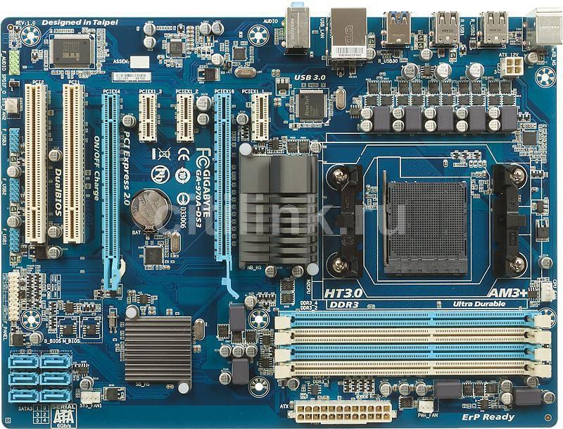 Материнская плата GIGABYTE GA-970A-DS3, SocketAM3+, AMD 970, ATX, Ret
