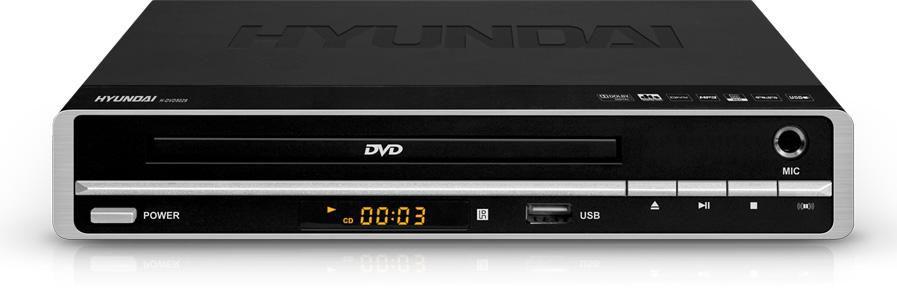 DVD-плеер HYUNDAI H-DVD5029,  черный и серебристый