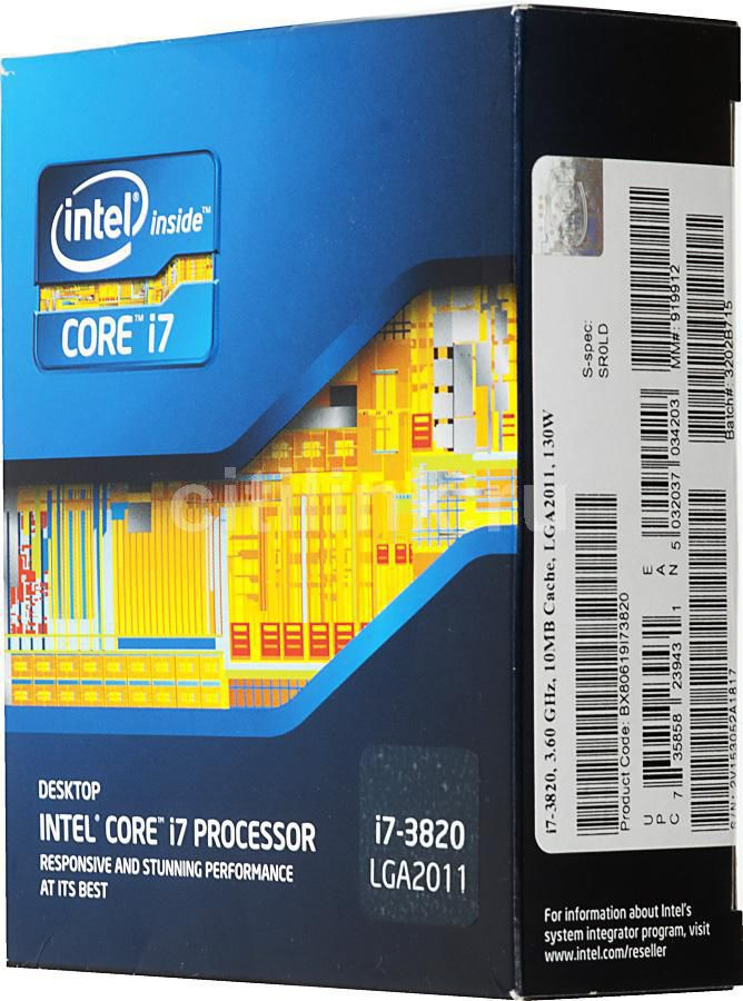 Процессор INTEL Core i7 3820, LGA 2011 BOX [bx80619i73820sr0ld]
