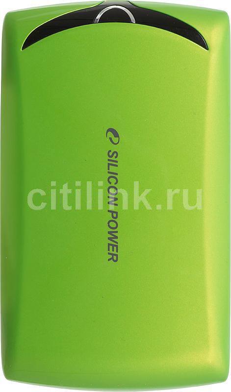 Внешний жесткий диск SILICON POWER Stream S10, 1Тб, зеленый [sp010tbphds10s3n]
