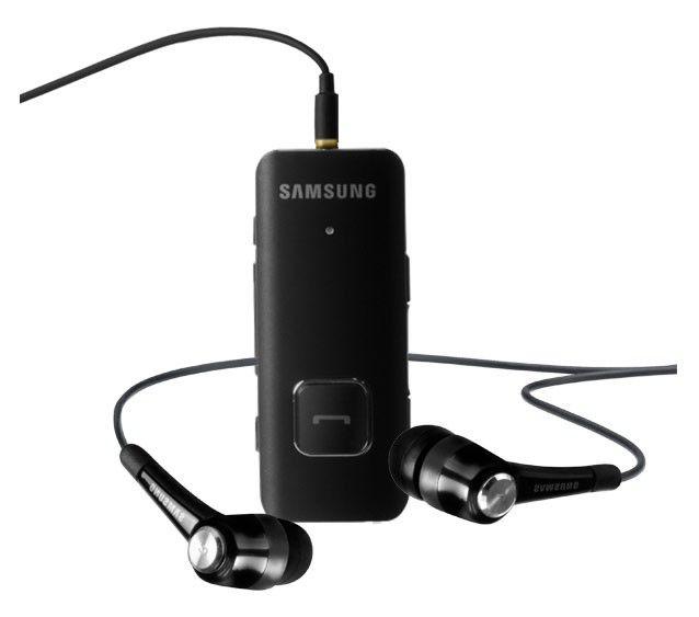 Гарнитура bluetooth  SAMSUNG HS-3000,  стерео, темно-серый [hs 3000 black]
