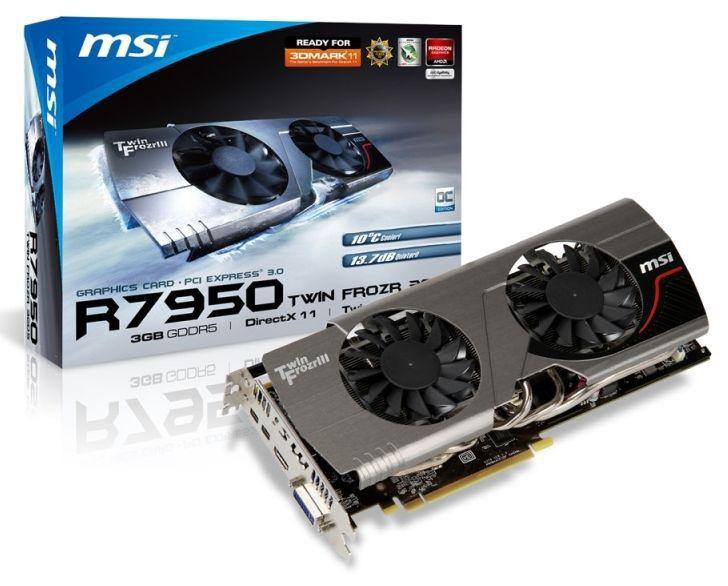 Видеокарта MSI PCI-E ATI R7950 TWIN FROZR 3GD5/OC R7950 3072Mb 384b D5 880/5000 HDMI+DVI-I+mDP*2 RTL