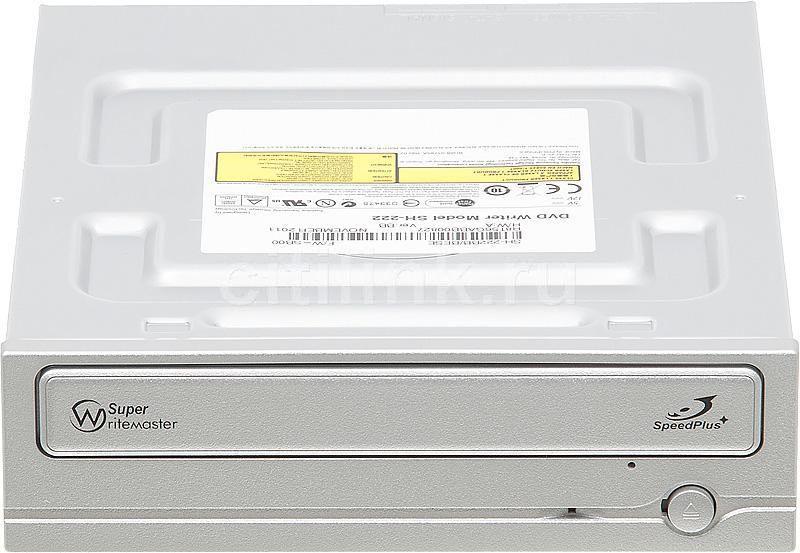Оптический привод DVD-RW SAMSUNG SH-222BB/BESE, внутренний, SATA, серебристый,  OEM