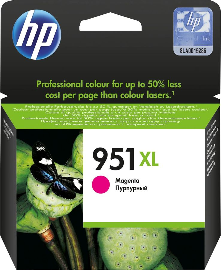 Картридж HP 951XL, пурпурный [cn047ae]