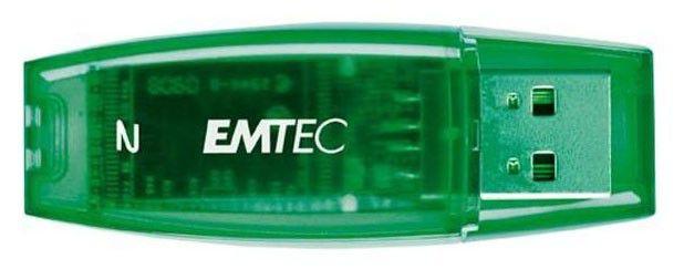 Флешка USB EMTEC 2Гб, USB2.0, зеленый [ekmmd2gc400]