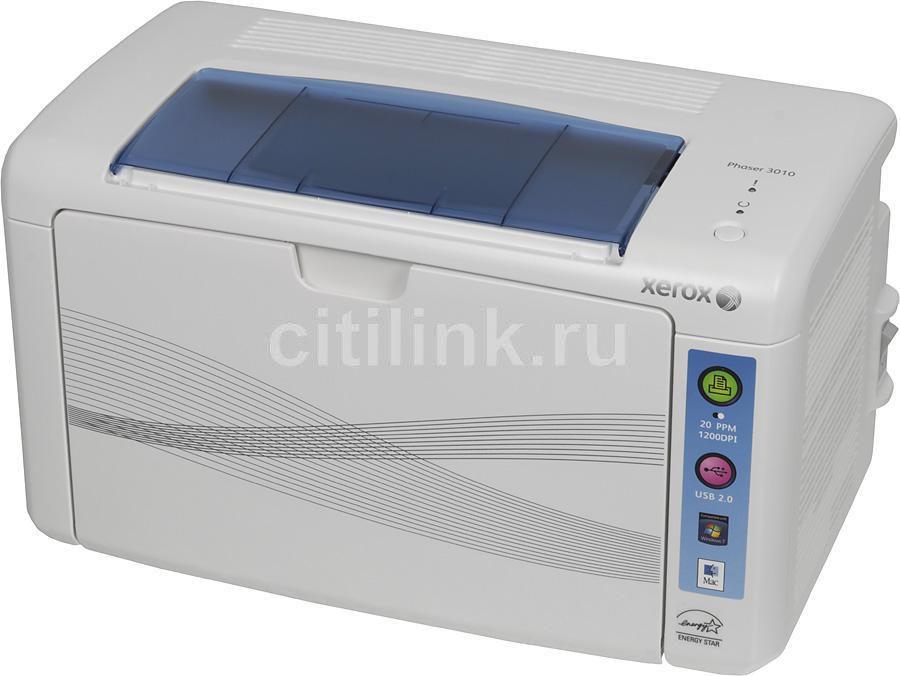 Принтер лазерный XEROX Phaser 3010 светодиодный, цвет:  белый [100s66153/100s66474]