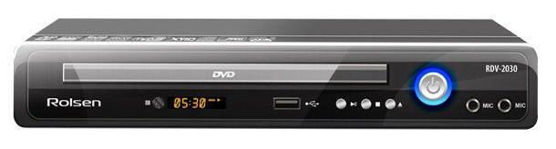 DVD-плеер ROLSEN RDV-2030,  черный