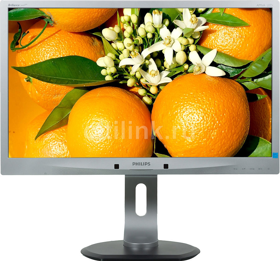 "Монитор ЖК PHILIPS 241P4QPYES (00/01) 24"", серебристый"