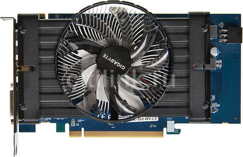Видеокарта GIGABYTE Radeon HD 7770,  1Гб, GDDR5, OC,  Ret [gv-r777oc-1gd]